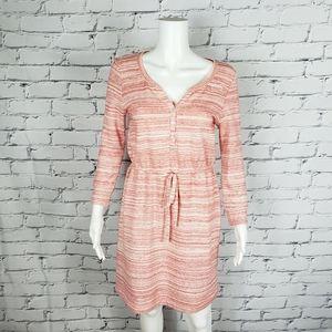 Anthropologie Pink Knit Drawstring Dress